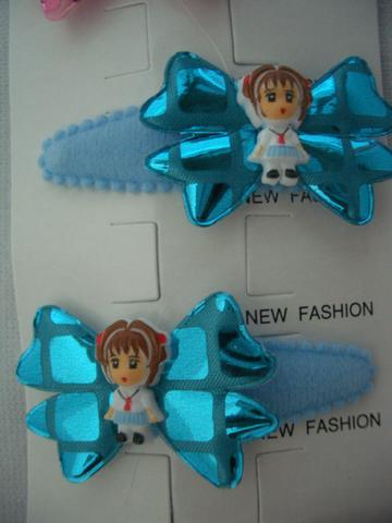Primary image for Adorable Girl Bow Tender Soft Hair Clip Soft Padded Blue Adorable Clip