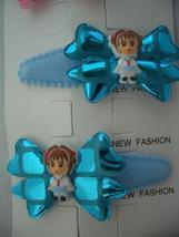 Adorable Girl Bow Tender Soft Hair Clip Soft Padded Blue Adorable Clip - $4.17