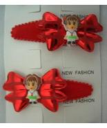 Cute Girl Bow Tender Soft Hair Clip Soft Padded Red Adorable Hair Clip - $4.17