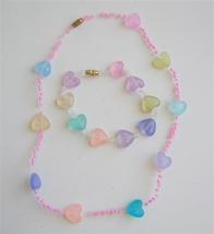Multicolored In Pink Beads Girls Stretchable Necklace & Bracelet - $6.88