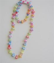 Classic Acrylic MultiColor Beads Girls Stretchable Necklace & Bracelet - $6.23