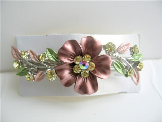Primary image for Sparkling Rhinestones Hair Barrette Flower Hair Barrette Clip