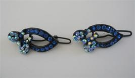 Blue Sapphire Crystal Hair Accessories Sparkling Crystal Hair Clip - $11.43