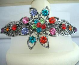 Bridal Jewelry Oxidized Multi Crystals Bridemaid Party Wear Hair Clip - $13.40