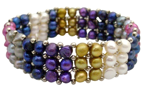 Multicolored Freshwater Pearls Bracelet Absolutely Stunning Gift