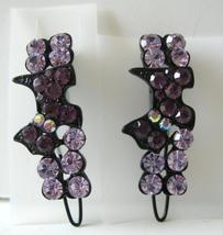 Pair Of Amethyst Crystals Hair Bridal Barrette - $13.38