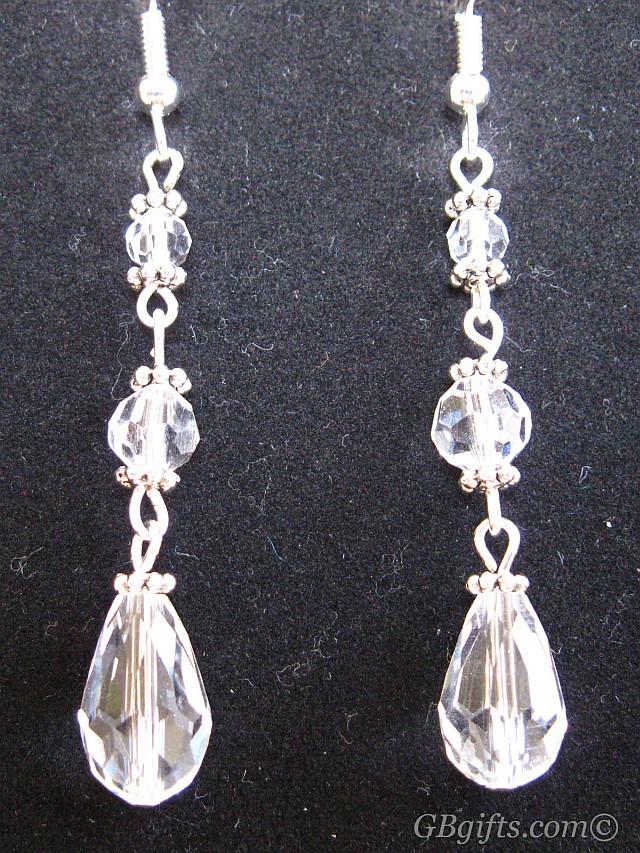 Clear Celestial Crystal Earrings  #EC1500001