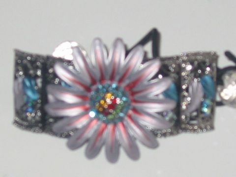 Primary image for Enamel Flower/Crystals Elastic Clip