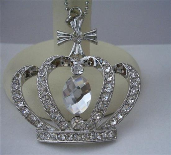 Primary image for Iced Out King Crown Hip Hop Pendant w/ 24 Inches Bling Chain
