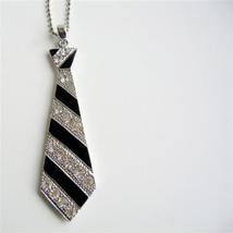 Black Tie Pendant Hip Hop Jewelry w/ Cubic Zircon Designed Pendant - $17.28