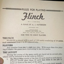 Vintage Flinch Card Game Parker Brothers Instructions Included 2 to 8 Pl... - $16.64