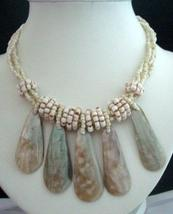 Necklace 3 Strands Cream Beaded Necklace - $12.75