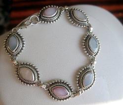 Sterling Silver Multi Mother Of Pearl Bracelet - $40.05