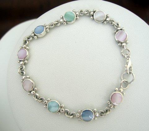 Primary image for Sterling Silver Multi Mother Of Pearl Bracelet