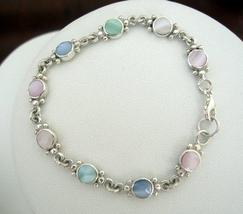 Sterling Silver Multi Mother Of Pearl Bracelet - $22.50
