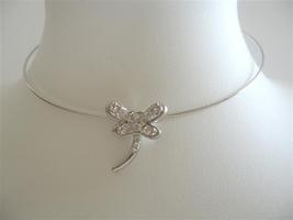 Butterfly Cubic Zircon Pendant Choaker Rhodium Plated Choaker - $9.48