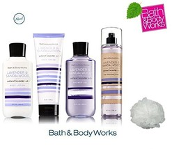 Bath & Body Works LAVENDER & SANDALWOOD Deluxe Gift Set Lotion ~ Cream - $50.38