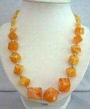 Yellow Lime Beads Summerish Beach Fun Wearing Long Necklace Jewelry - $8.85