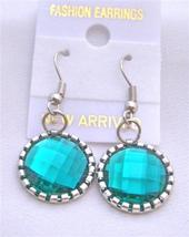 Emerald Simulate Crystals Earrings - $4.30