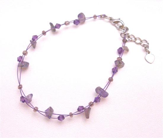 Amethyst Bracelet Jewelry Party Nugget Affordable Glass Beads Bracelet