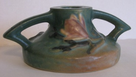 Candlestick Roseville Magnolia 1156 Pottery Single Green - $38.00