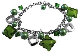 Trendy Classy Immitation Green Beads Dangling Gorgeous Sexy Bracelet - $8.18
