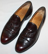Mens Johnston & Murphy Limited Collection Shoes 10 C/A Burgundy Tassel L... - $32.66