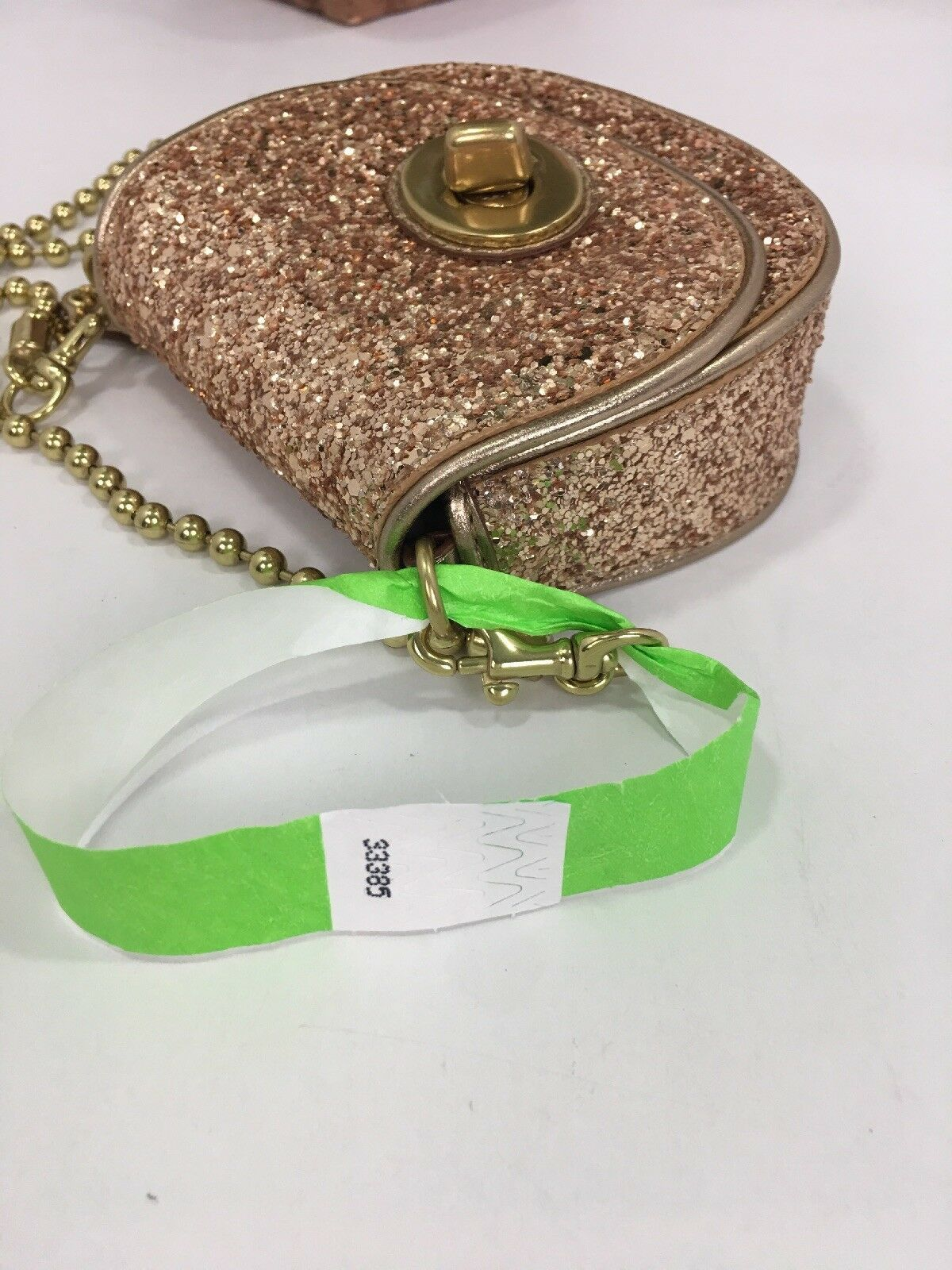 Coach Bag Evening Poppy Gold Sequin Crossbody Leather Chain 43292 Gold B2E image 12