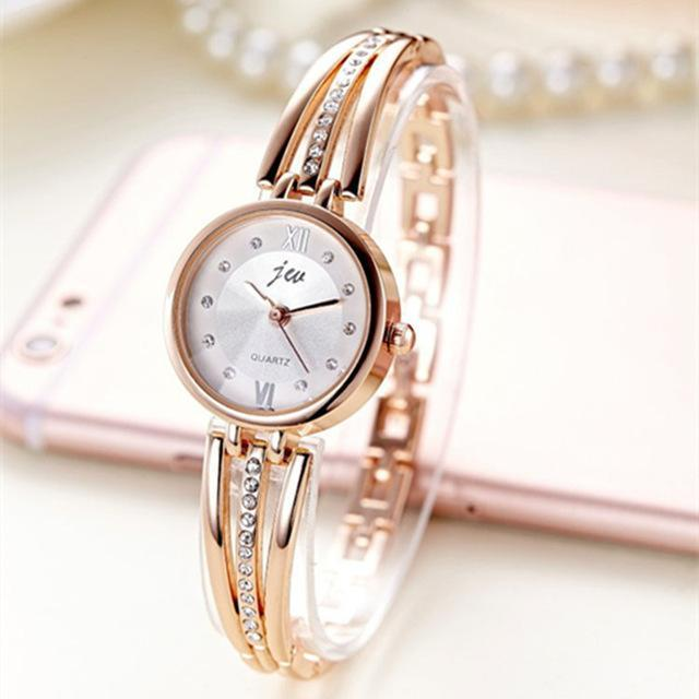 New Fashion Rhinestone Watches Women Luxury Brand Stainless Steel Bracelet watch image 5