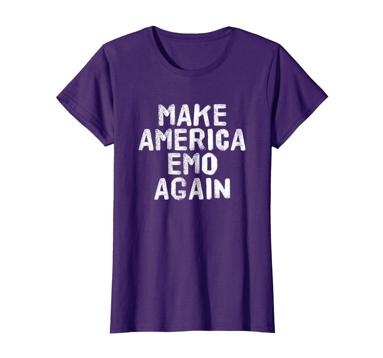 Brother Shirts - MAKE AMERICA EMO AGAIN Shirt Funny Goth US Gift Idea Wowen