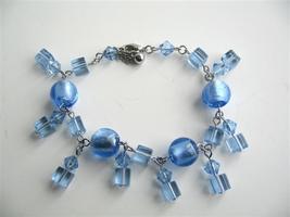 Cool Blue Dangling Crystals Bracelets Simulated Crystals Bracelet - $8.83