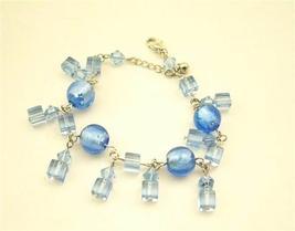 Sexy Simulated Aquamarine Sapphire Crystal Dangling Bracelet - $8.83