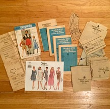 Vintage set of Misc Fashion/Sewing pattern paper parts for scrapbooking!