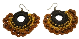 Shop Earrings Crochet Holiday Gifts In Gorgeous Yellow Brown Colors - $7.53