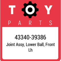 43340-39386 Toyota Ball Joint Lower, New Genuine OEM Part - $80.13