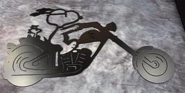 Biker Duo Snoopy and Woodstock Metal Wall Art - $28.70