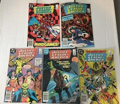 Justice League Of America 246 248 254 255 257 DC Book Lot Of 5 1986 VF C... - $11.69