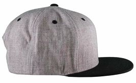 Yea Nice # Funtimes Men's Gry-Blk-Red Embroidered O/S Snapback Baseball Cap NWT image 3