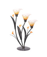 Iron Candle Holder, Metal Candle Holder Stand Decorative Lilies Candleho... - $27.48