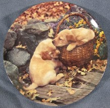 Brotherly Love Collector Plate Two's Company Sharon Eide Retriever Puppies - $21.95