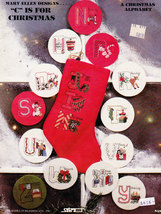 """Cross Stitch """"C"""" Is For Christmas By Sabra - $4.50"""