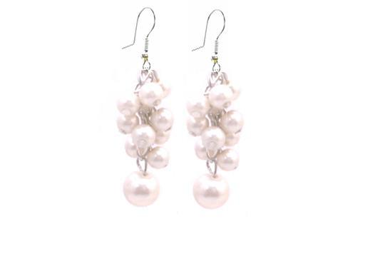 Bridesmaid Earrings Ivory Pearls Prom Gift Affordable Jewelry