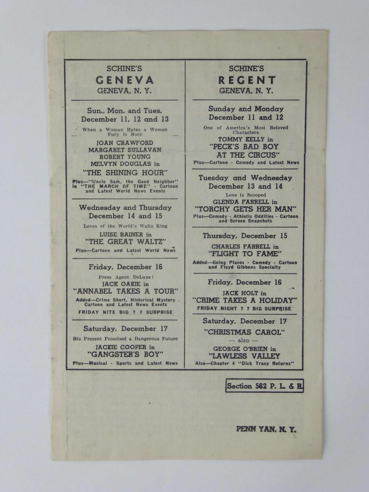 Ronald Reagan Vintage Schine's Elmwood Theatre News Brother Rat Laugh Brigade