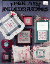 CROSS STITCH FOLK ART CELEBRATIONS MOTHER FATHER - $5.00