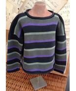 PERUVIAN Connection BOYS PIMA COTTON Sweater STRIPE Black Loden M 2 3 T ... - $24.07