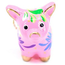 Handcrafted Painted CeramicPink Pig Confetti Ornament Made in Peru image 2