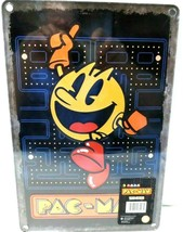 PAC-MAN Metal Sign Wall Art Video Game Classic Game Room Arcade Black - $9.73