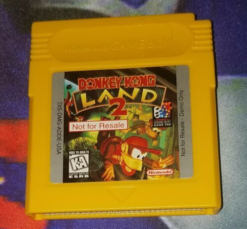 Donkey Kong Land 2 Not For Resale Nintendo Game Boy