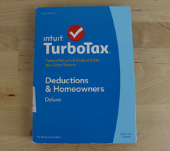 2014 TurboTax Deluxe Deductions & Homeowners Federal & State New & Sealed - $14.84