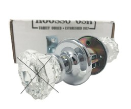 Privacy Retrofit kit in Polished Nickel Modern Door with your Antique Knobs - $69.99